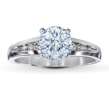 diamond ring setting 18 ct tw round cut 14k white gold - Wedding Rings At Kay Jewelers